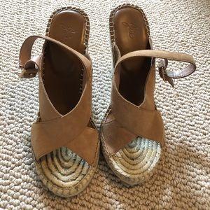 JOIE Tan suede espadrille sandals